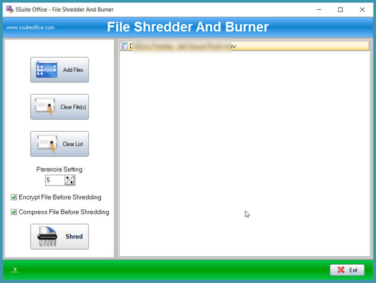 SSuite File Shredder : Διαγράψτε για πάντα τα αρχεία σας από οποιοδήποτε αποθηκευτικό μέσο.