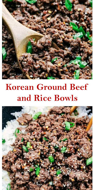 Korean Ground Beef and Rice Bowls #KoreanGroundBeefandRiceBowls