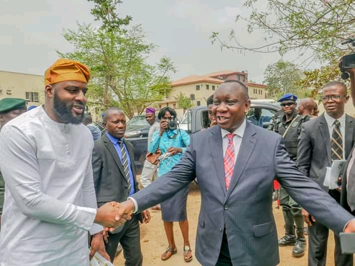 Photos of Oyo State Speaker, Rt. Hon. Adebo Ogundoyin and Others at The Commissioning of ICPC Complex in Oyo State teelamford 1