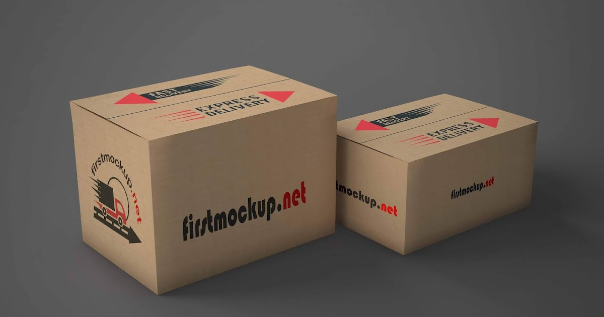 Download Mockup of delivery boxes of different sizes Free Psd
