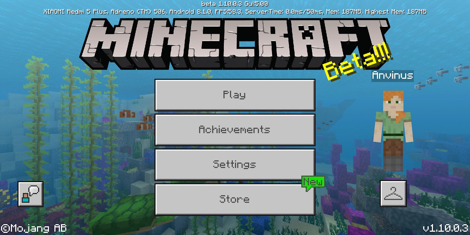 minecraft pe apk + mod 1.10.0.3