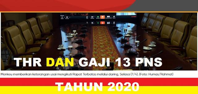 GAMBAR THR DAN GAJI  13 PNS 2020