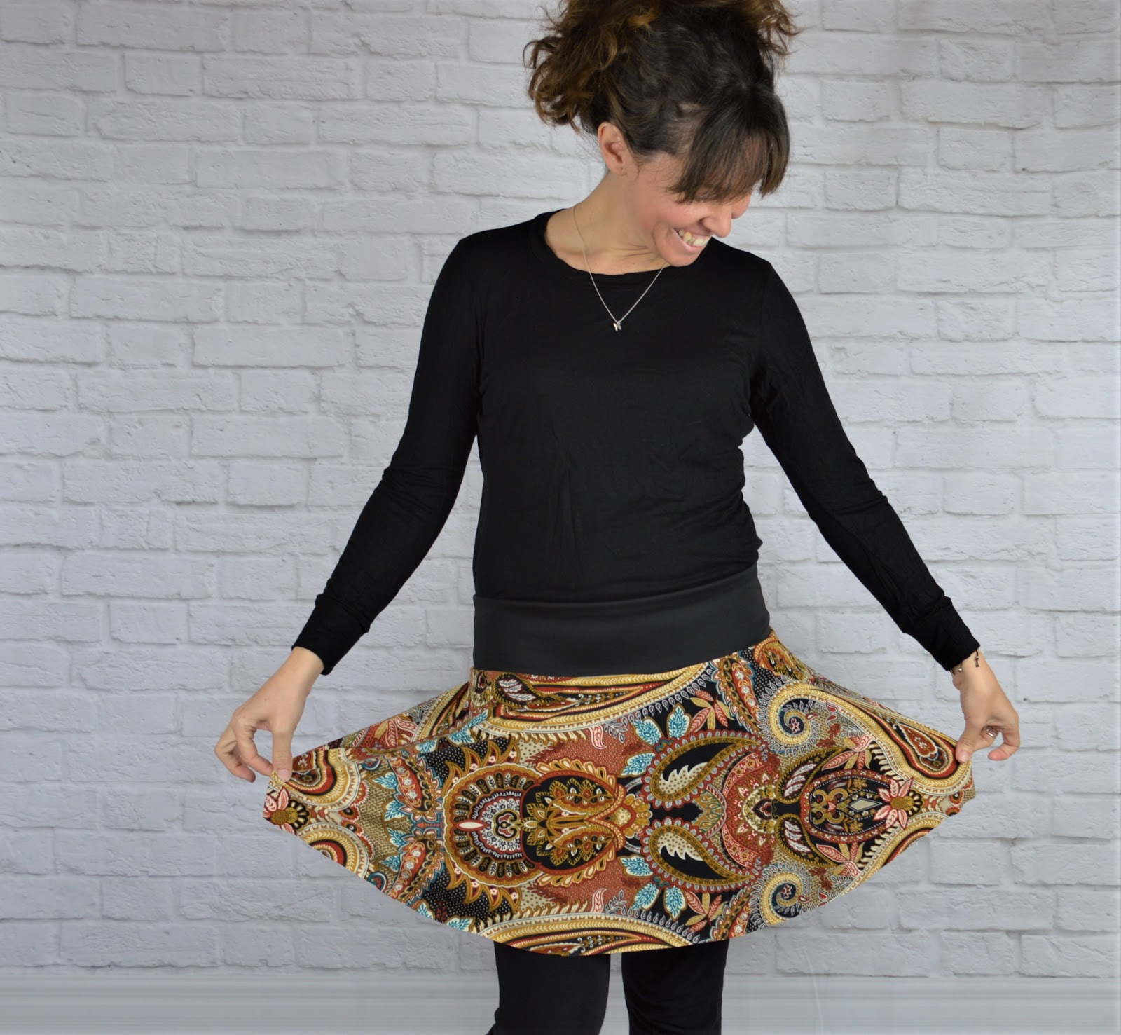 falda handmade mujer estampado étnico