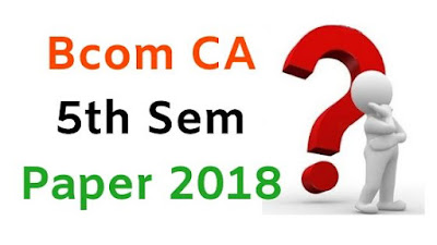Mdu BCom (CA) 5th Sem Question Paper, Bcom CA 1st Sem Question Paper, BCom CA Question Paper 2018