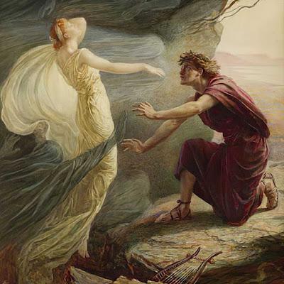 """Il dipinto """"Orfeo ed Euridice"""" è di Catherine Adelaide Sparkes (1842-1910)"""