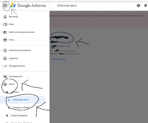 cara mengatasi masalah ads txt adsense penghasilan beresiko