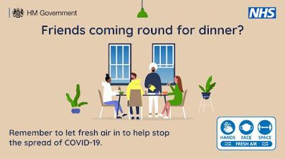 Friends for dinner - open a window