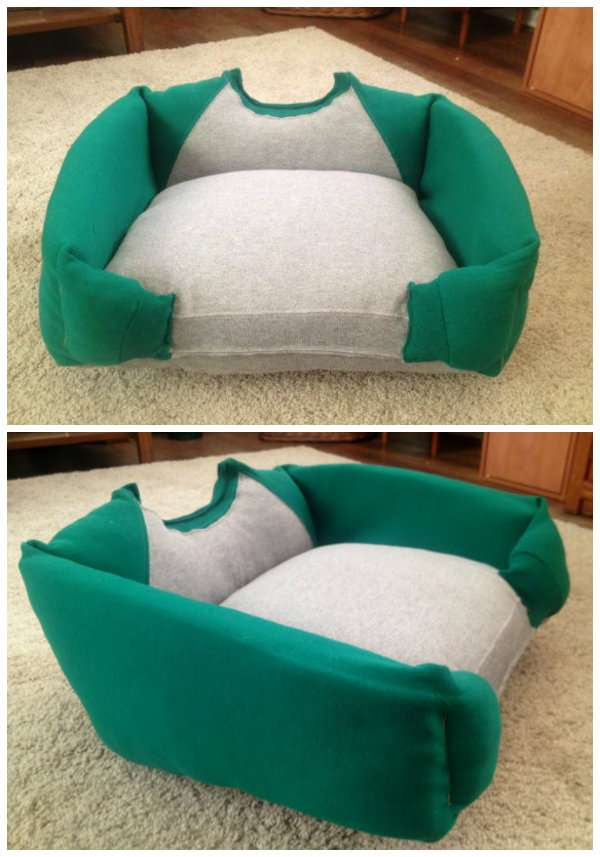 r cup et fait maison des id es r cup et d co un lit pour chien fabriquer soi m me. Black Bedroom Furniture Sets. Home Design Ideas