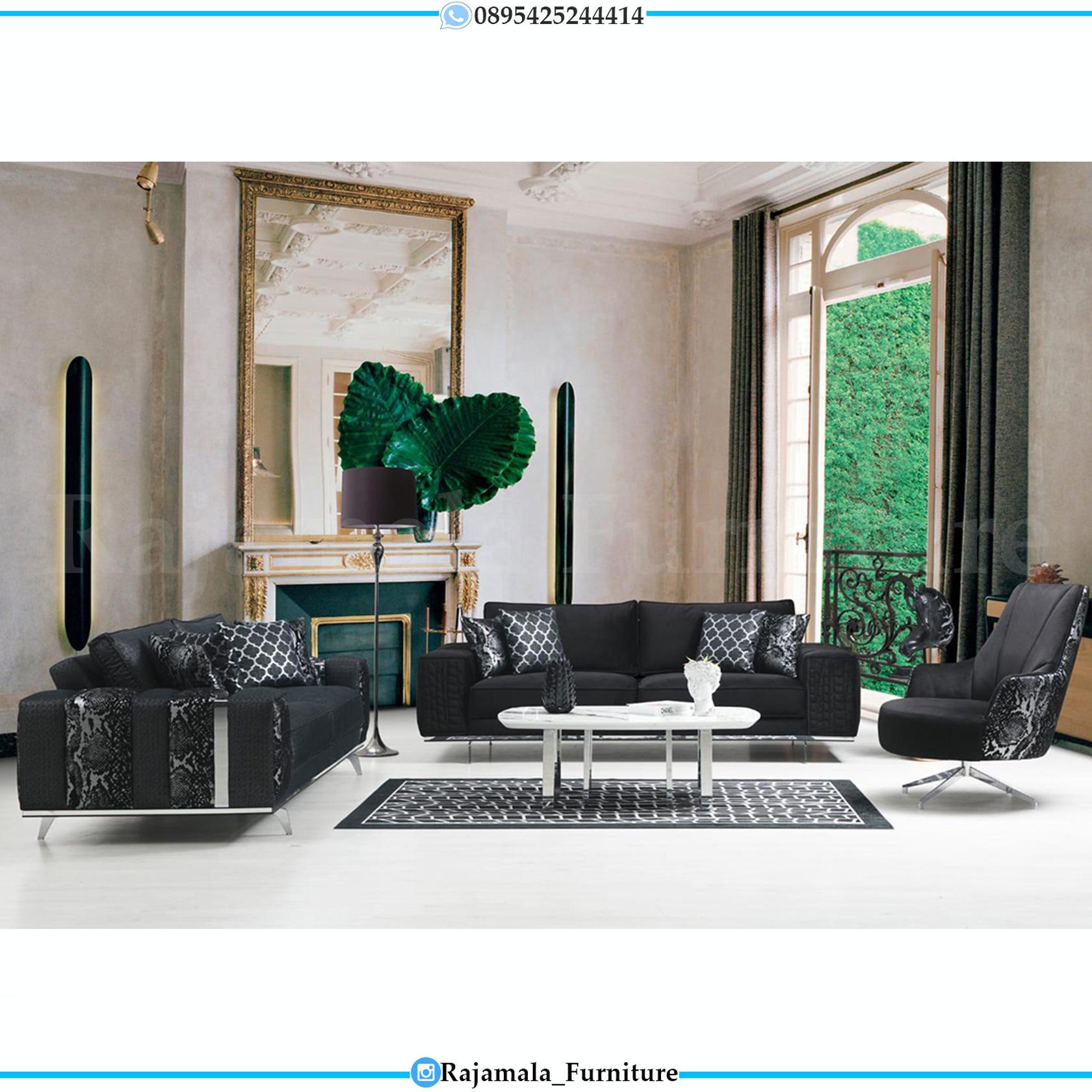 Desain Sofa Ruang Tamu Minimalis Luxury Furniture Jepara RM-0146