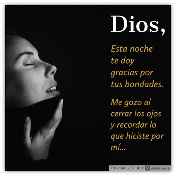 Oración de la Noche Agradeciendo a Dios por sus Bondades