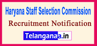 Haryana Staff Selection Commission HSSC Recruitment Notification 2017Last Date 24-06-2017