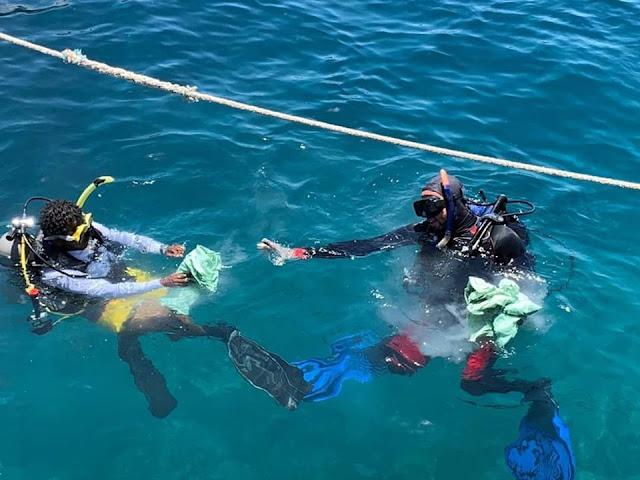 وزارة البيئة تنظم حملة نظافة موسعة تحت الماء بالبحر الأحمر
