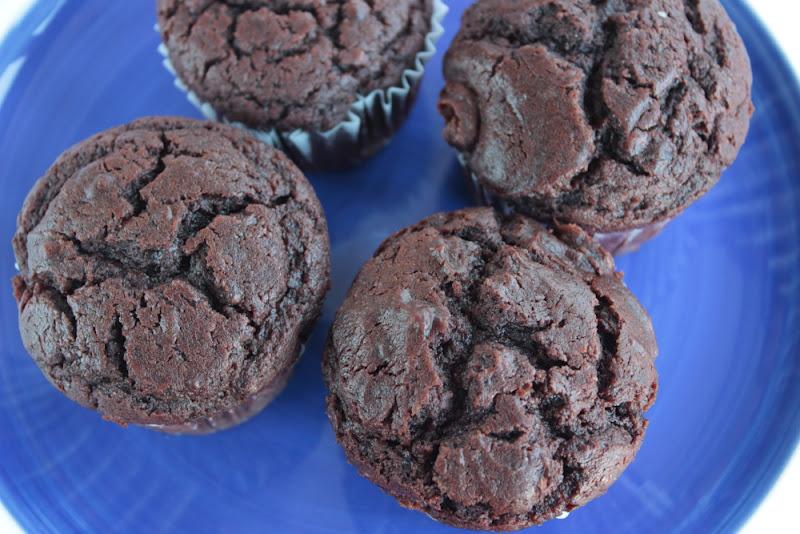 Muffins de chocolate de Dan Lepard