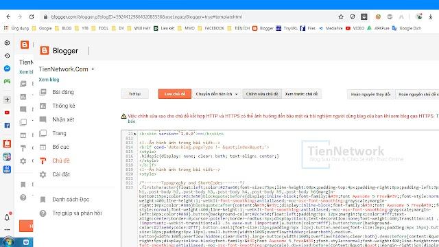 Cấu trúc Bố cục các thành phần của Blogspot 2020
