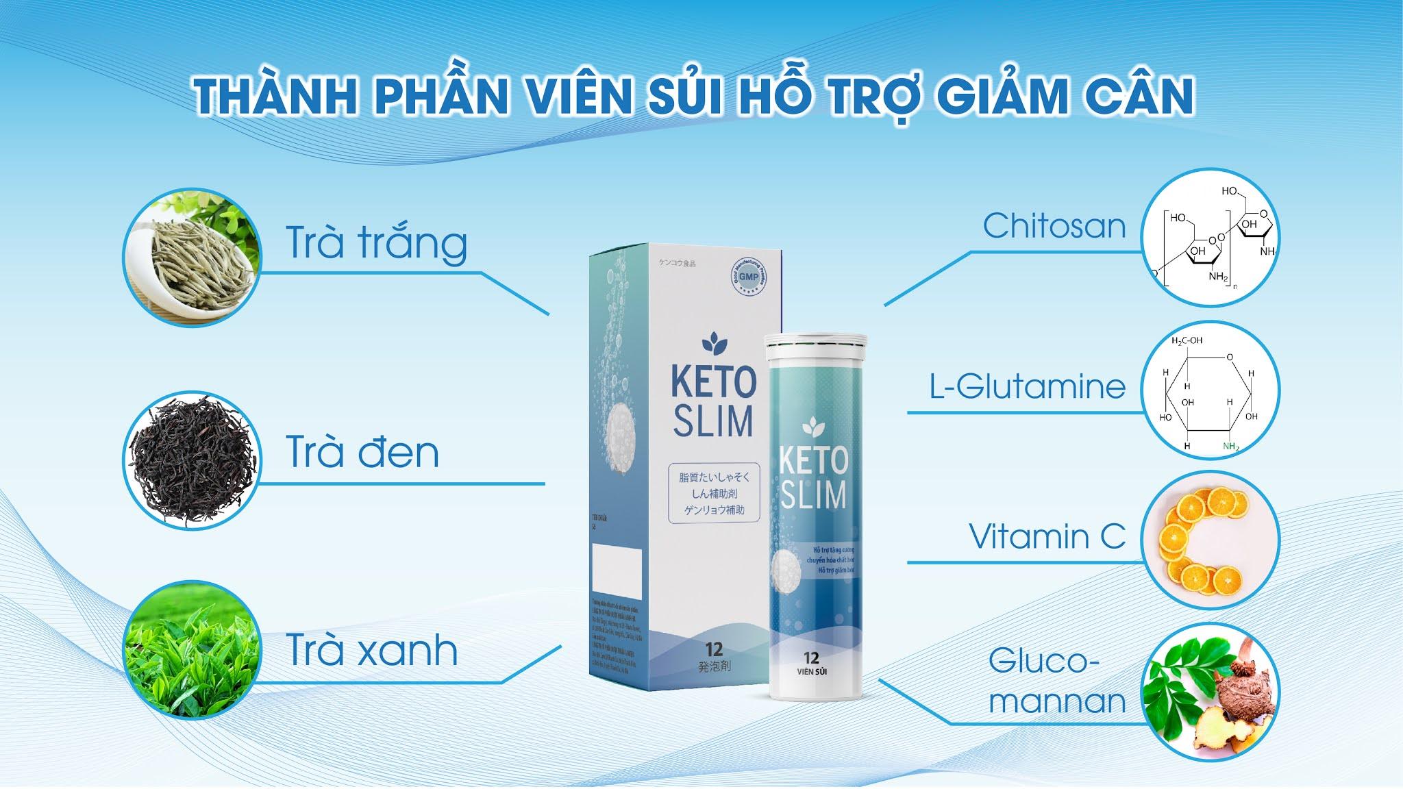 Giảm cân hiệu quả với viên sủi giảm cân Keto Slim