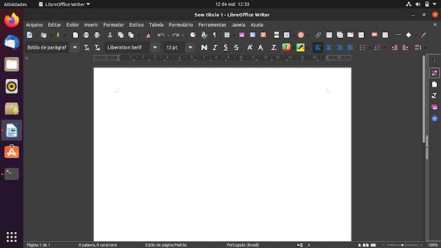 Tema Yaru do Ubuntu no LibreOffice - Dicas Linux e Windows