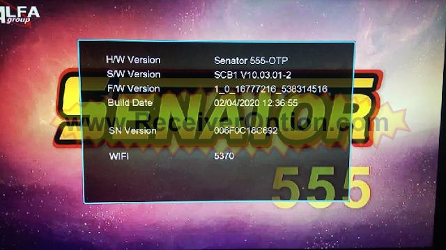 SENATOR 555 1506T 512 4M HD RECEIVER NEW SOFTWARE
