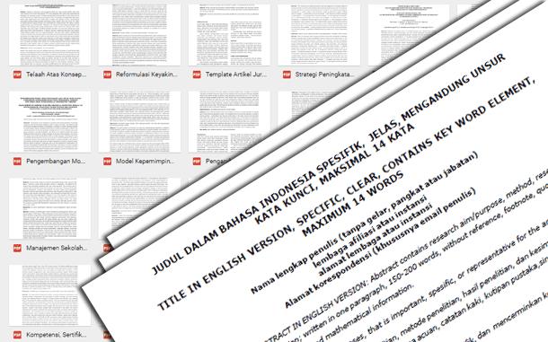 Pedoman, Cara Penulisan dan Contoh Jurnal Pendidikan dan Kebudayaan