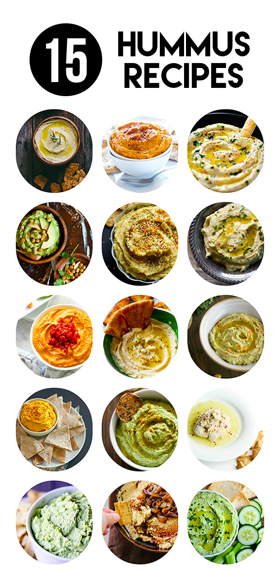 15 CREAMY DREAMY HUMMUS RECIPES
