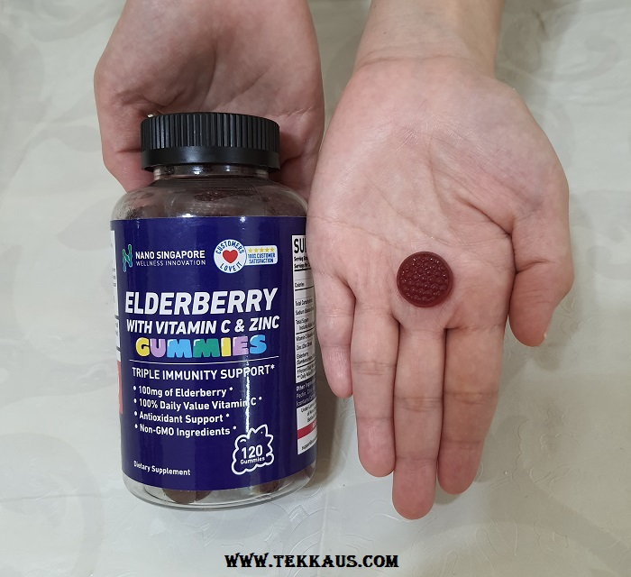 Nano Singapore Elderberry with Vitamin C & Zinc Gummies Review