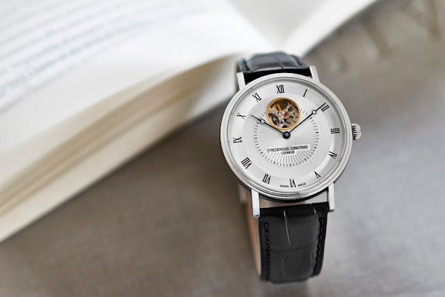 FREDERIQUE CONSTANT THE CLASSICS AUTOMATIC HEART BEAT blog debajo del reloj