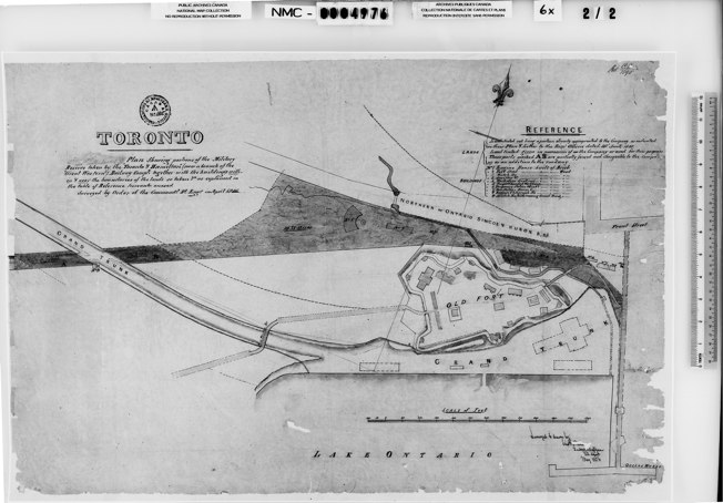 1856 Walkem: Plan Showing [lands] taken by the Toronto & Hamilton (now Great Western) Railway