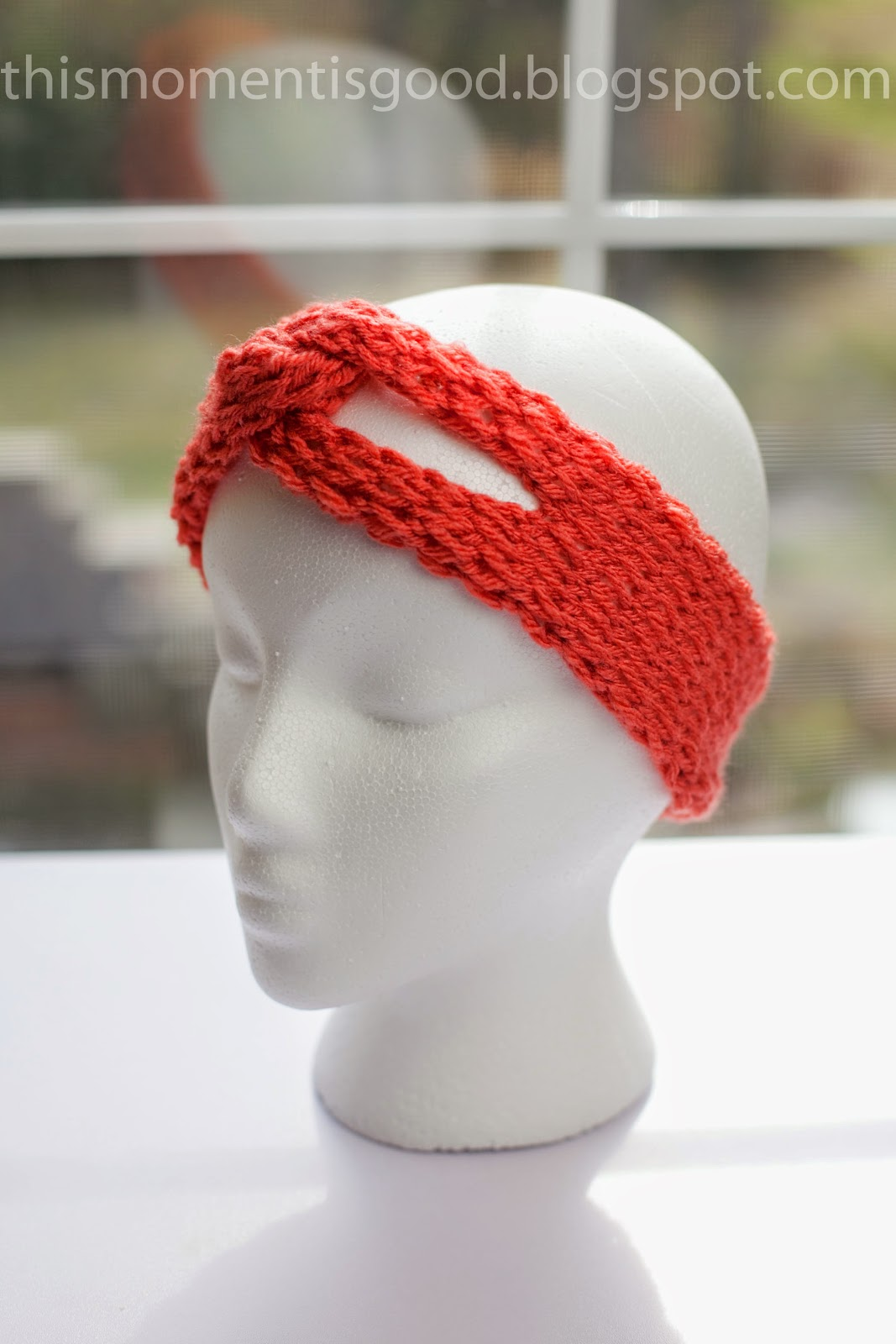 LOOM KNIT TWISTED HEADBAND... | Loom Knitting by This Moment is Good!