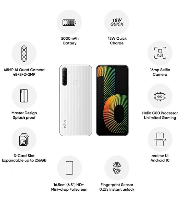 4जीबी रैम 128GB इंटरनल स्टोरेज 5000 एमएएच की बैटरी मीडियाटेक हेलिओ का G80 प्रोसेसर के साथ Realme Narzo 10 की फ्लैश सेल 21 जुलाई को होगी।