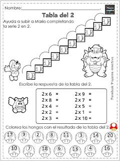 Ejercicios tablas de multiplicar para imprimir pdf gratis