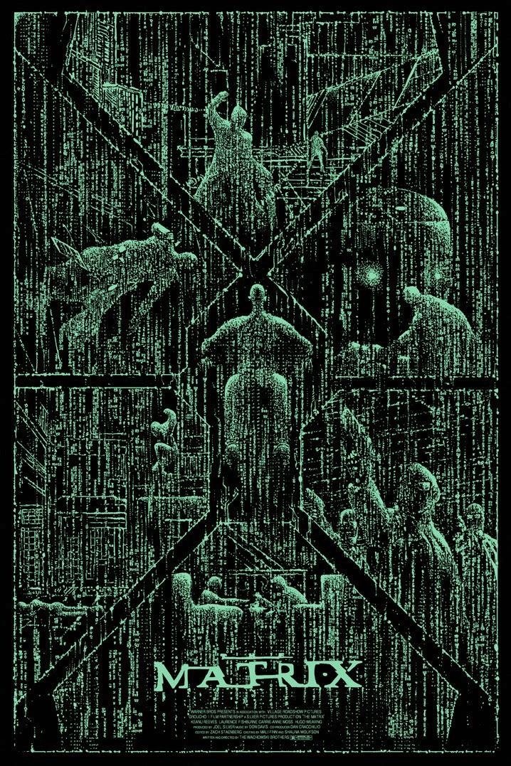 The Geeky Nerfherder: Cool Art: 'The Matrix' by Kilian Eng