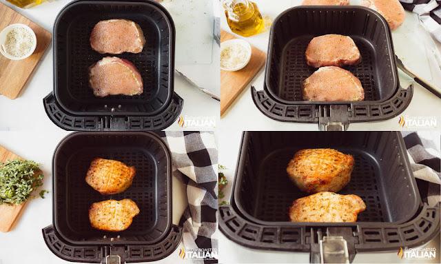 pork chops in the air fryer cook on each side