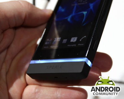 Sony Xperia U On Hands