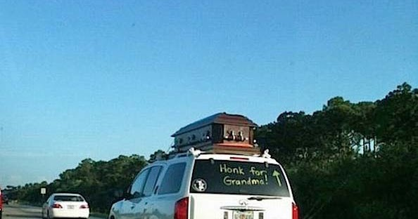 Funny Honk For Grandma Funeral Procession