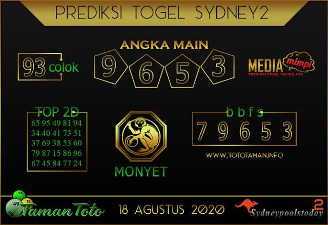 Prediksi Togel SYDNEY 2 TAMAN TOTO 18 AGUSTUS 2020