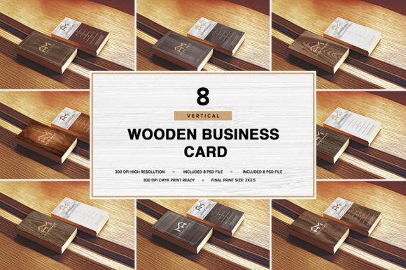 Wooden Business Card Pack [Vertical][Photshop][PSD][6039066]