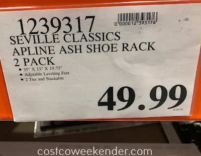 Deal for a 2 pack of Seville Classics Alpine Ash Shoe Racks at Costco