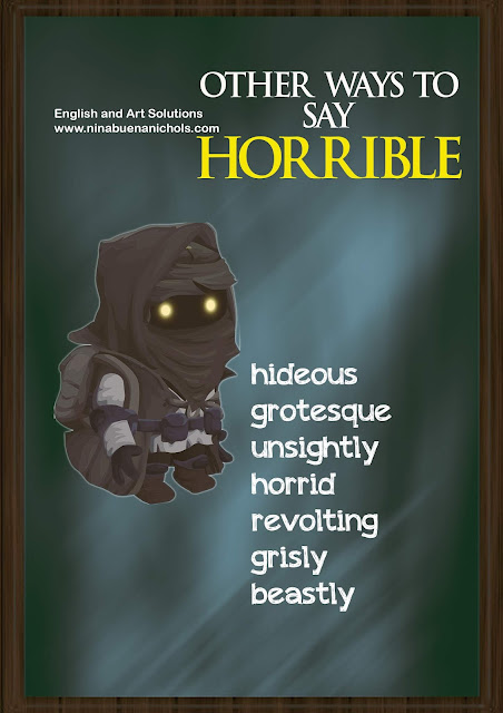 other ways to say horrible