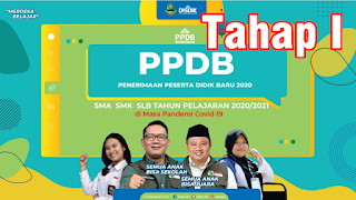 Pengumuman PPDB Tahap 1 Tahun Pelajran 2020-2021