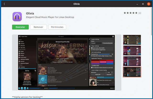olivia-snap-player-cloud-music-musica-streaming-youtube-rádio-app-linux-loja-ubuntu