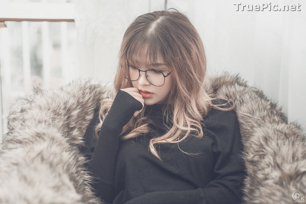 Image Vietnamese Model - Cute Glasses Girl With Black Dress - TruePic.net - Picture-7