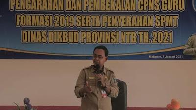 Dikbud NTB Gelar Pembekalan 222 Guru CPNS