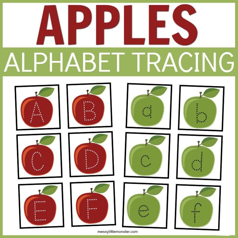 alphabet apple tracing activity