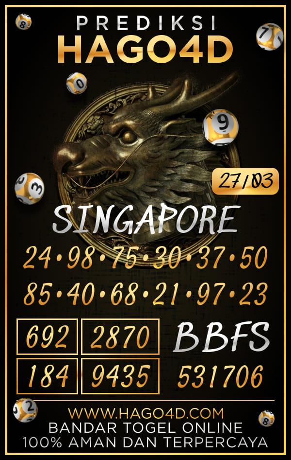 Prediksi Hago4D - Sabtu, 27 Maret 2021 - Prediksi Togel Singapore