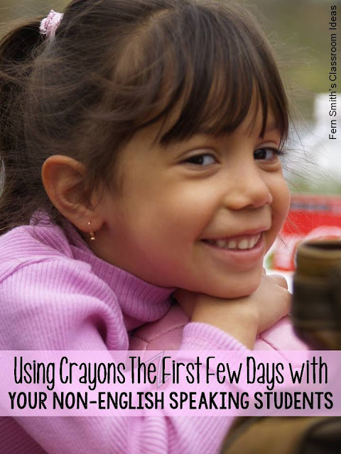 USING CRAYONS TO TEACH NON-ENGLISH SPEAKING STUDENTS  #FernSmithsClassroomIdeas