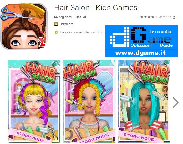 Trucchi Hair Salon - Kids Games Mod Apk Android v2.0.9