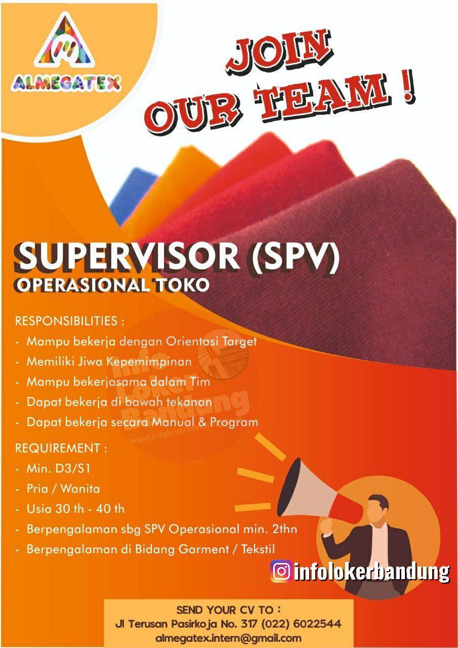 Lowongan Kerja Supervisor Operasional Toko Almegatex Bandung September 2019
