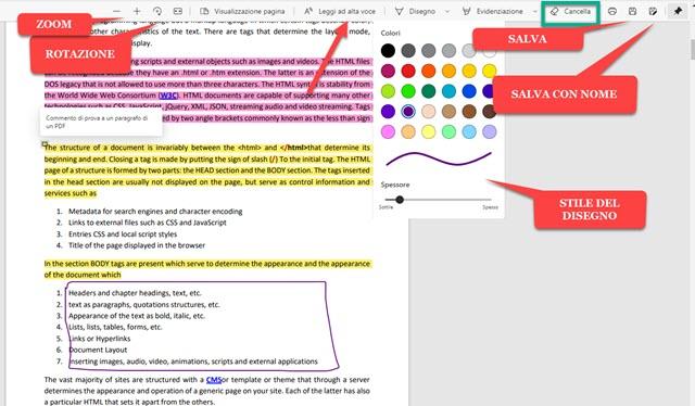 editor dei pdf in microsoft edge