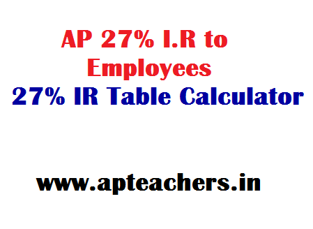AP 27% I R to Employees 27% IR Table Online 27% IR