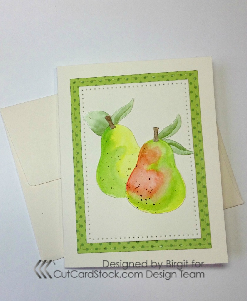 Multi colored cardstock paper - I Started By Cutting All The Fruits Out Of Water Colored Cardstock And Water Colored Them Using Gansai Tambi Water Colors I Used Tombow Mono Multi Purpose