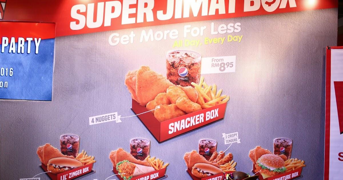KFC Malaysia Super Jimat Box : Harga dan Menu